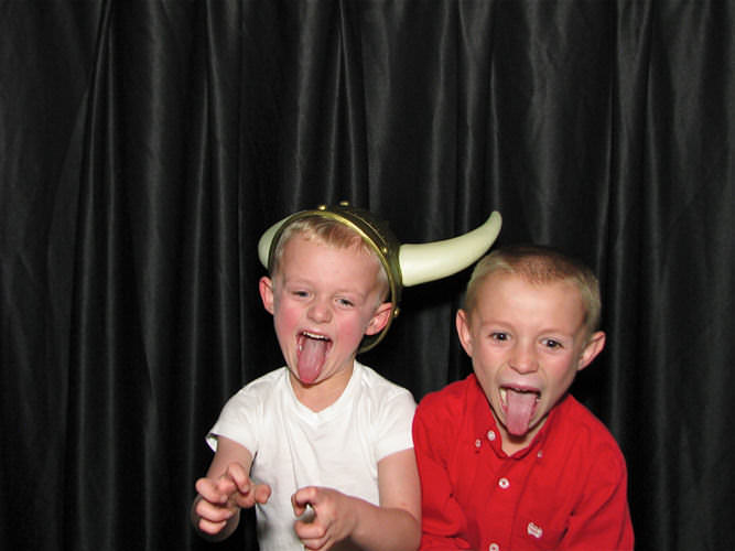 Dazzling photo booth for kids parties
