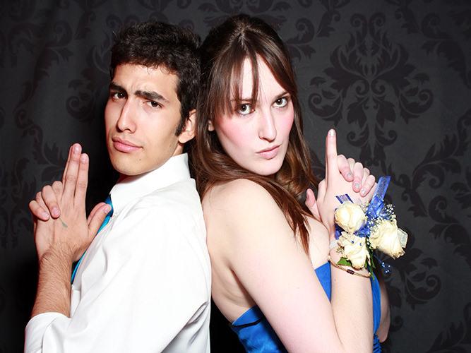 photo booth that blends into a wedding Colorado