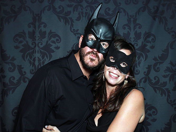 batman-with-cat-woman-in-a-photo-booth