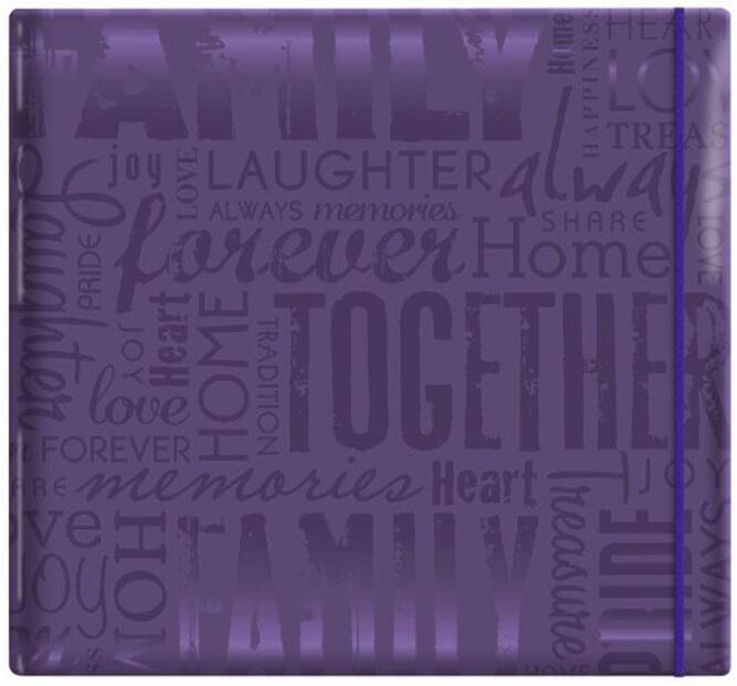 12x12-Purple Scrapbook
