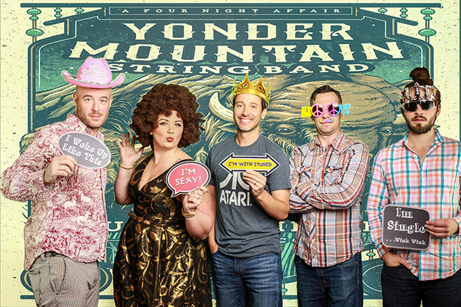 Yonder Mountain String Band using their Poster Art